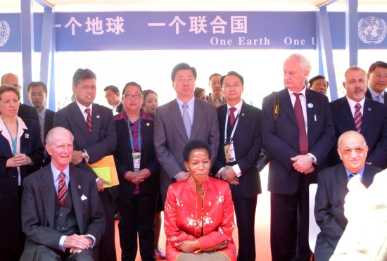 attended the opening ceremony of United Nations Pavilion of World Expo in Shanghai, China.